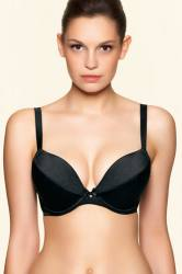 Freya Retro Basic Bra Padded Plunge 3411 Black