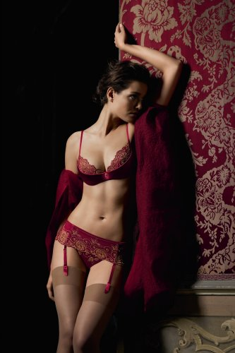 Valisere Notte Veneziana padded underwired bra Red