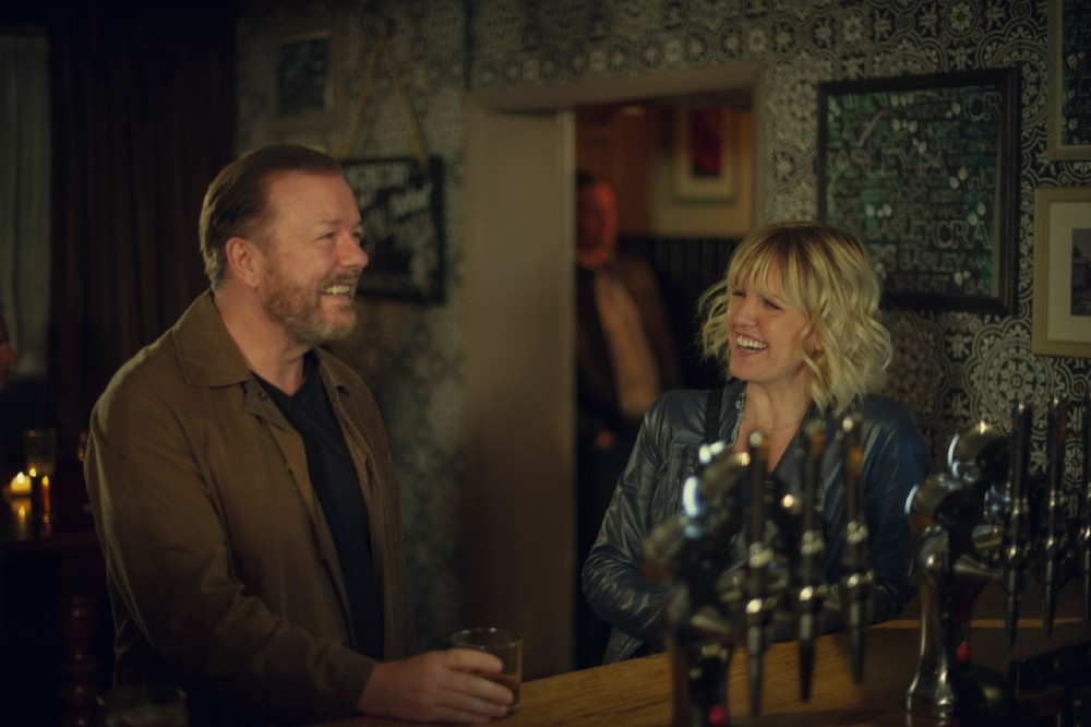 Ricky Gervais and Ashley Jensen in After Life Season 2 / Picture Credit: Netflix