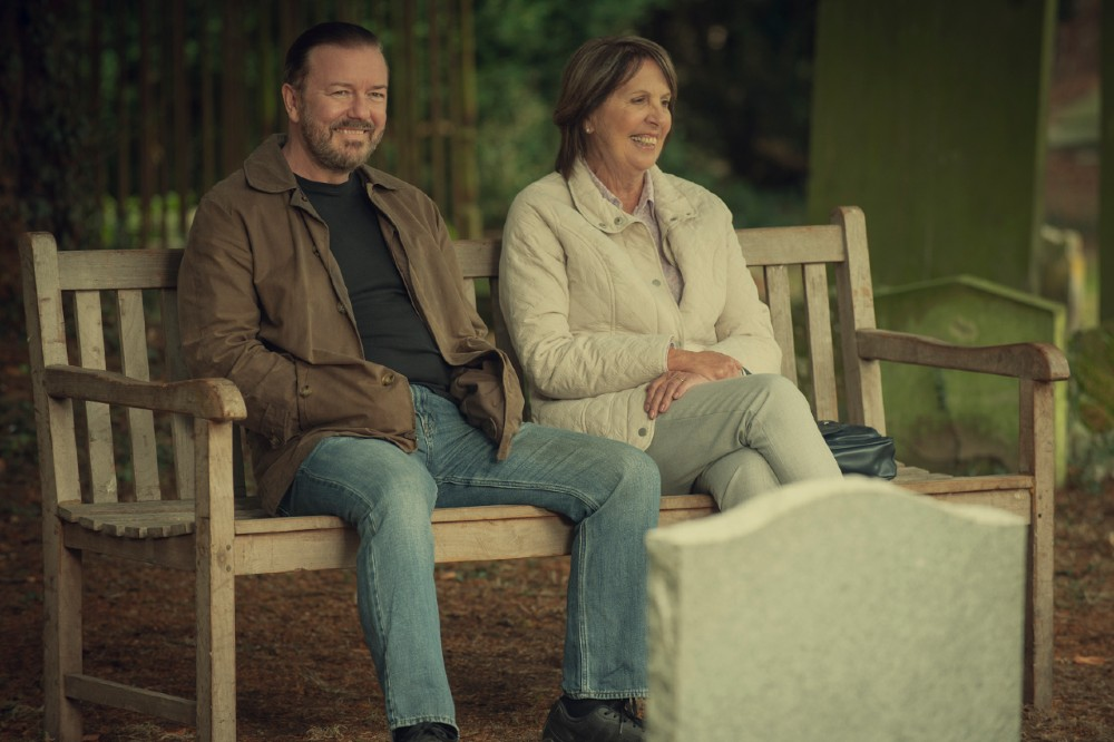Ricky Gervais and Penelope Wilton in After Life Season 2 / Picture Credit: Netflix