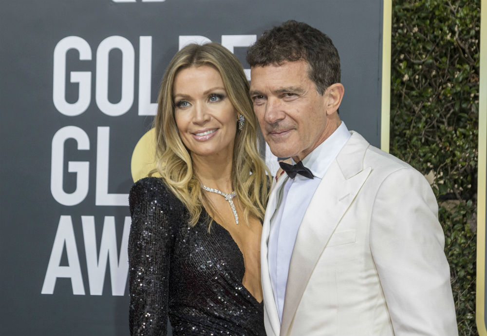 Nicole Kimpel and Antonio Banderas at the Golden Globe Awards 2020 / Photo Credit: Hubert Boesl/DPA/PA Images