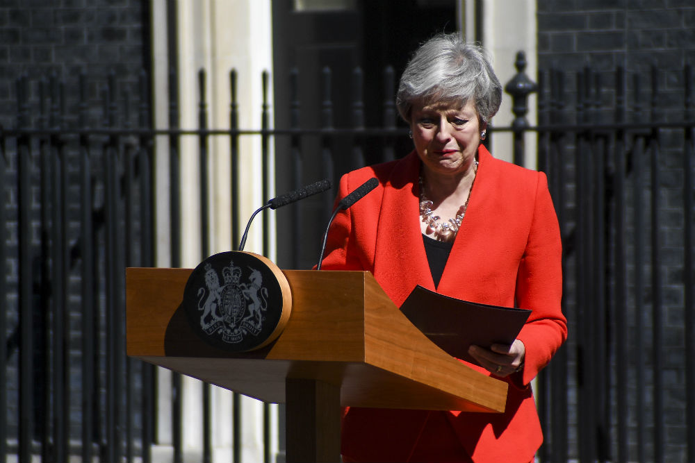 Theresa May resigns outside Number 10, Downing Street / Alberto Pezzali/Xinhua News Agency/PA Images