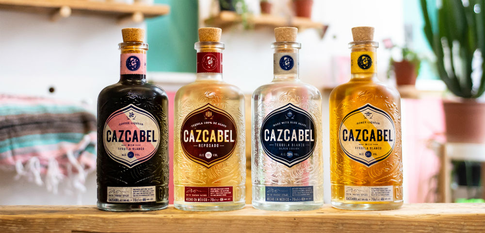 A range of different tequilas from Cazcabel