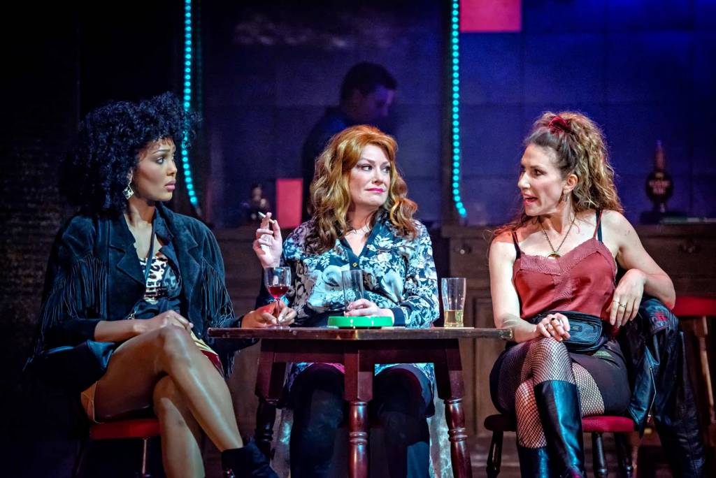 Emma Osman, Laurie Brett and Gaynor Faye in Kay Mellor's Band of Gold / Photo Credit: Robling Photography