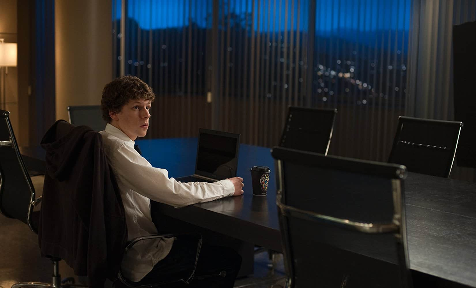 Jesse Eisenberg took the lead role of Mark Zuckerberg in The Social Network / Photo Credit: Sony Pictures