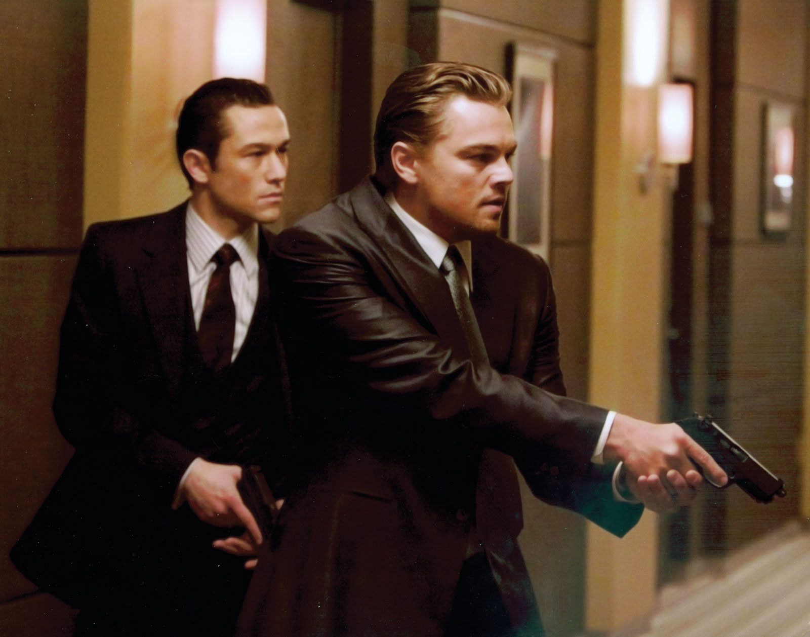 Joseph Gordon Levitt and Leonardo DiCaprio in Inception / Photo Credit: Warner Bros. Pictures