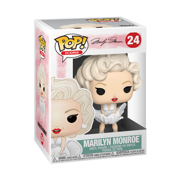 Marilyn Monroe meets the POP! Icons Funko line