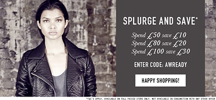 Miss Selfridge Spend and Save Offer