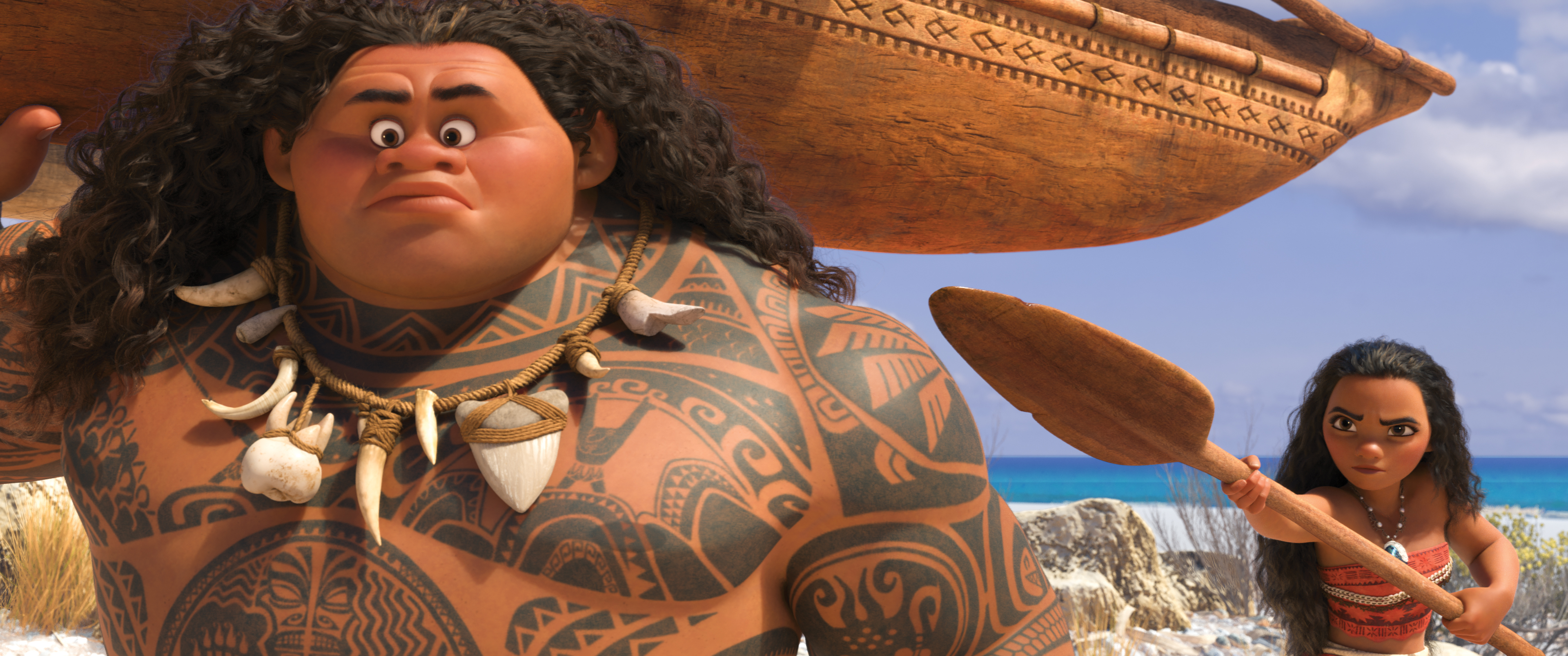 Dwayne Johnson voices Maui in Moana