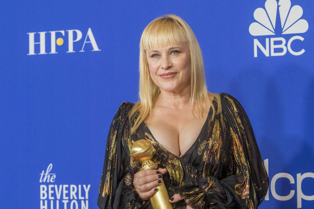 Patricia Arquette was all smiles with her award / Photo Credit: Hubert Boesl/DPA/PA Images