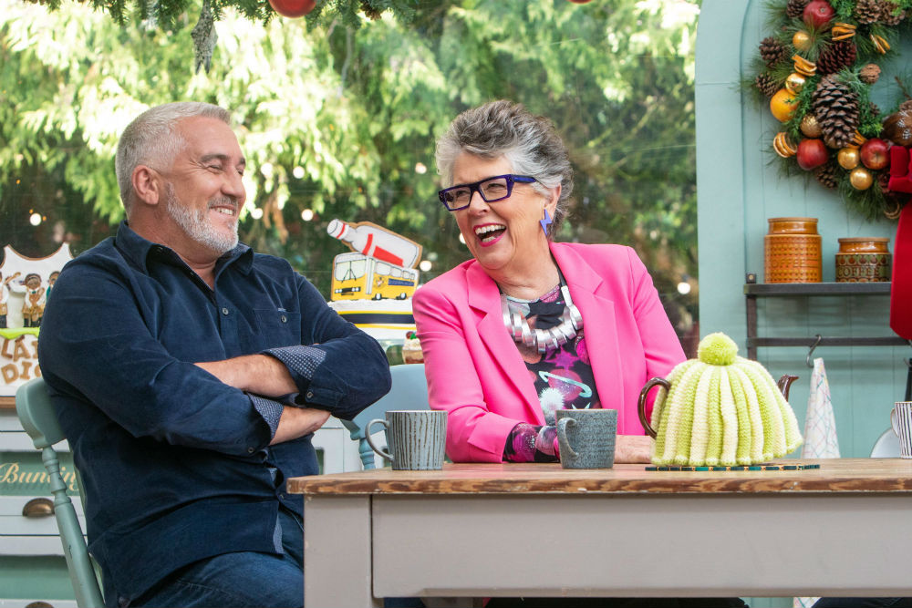 Paul Hollywood and Prue Leith return for The Great Festive Bake Off in January 2020 / Photo credit: Mark Bourdillon / Channel 4