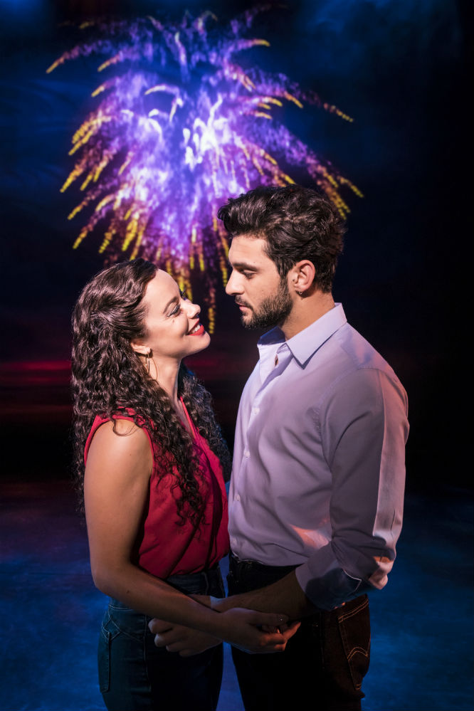 Philippa Stefani and George Ionnadis as Gloria and Emilio Estefan in On Your Feet / Photo Credit: Johan Persson