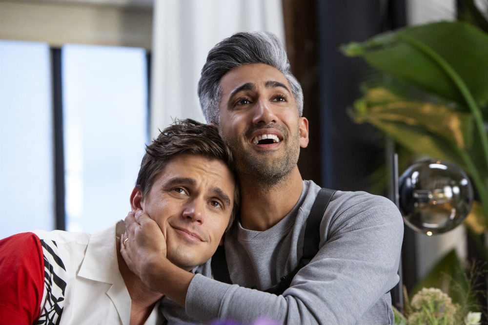 Antoni Porowski and Tan France in Queer Eye / Photo credit: Christopher Smith / Netflix
