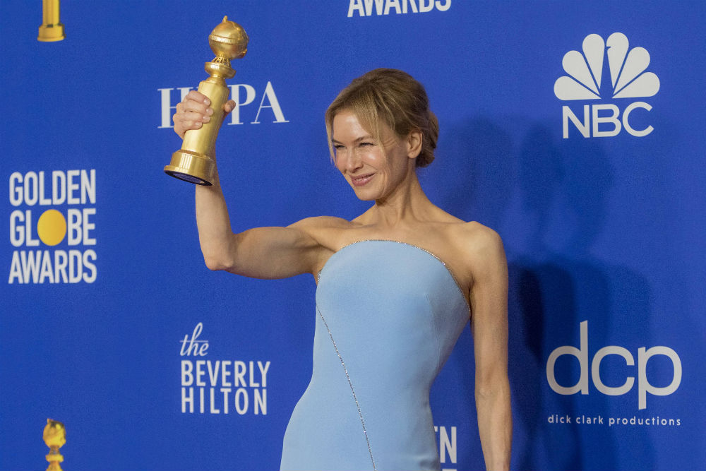 Renée Zellweger celebrates her big win / Photo Credit: Hubert Boesl/DPA/PA Images
