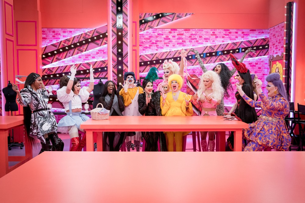 The Season 2 Queens on their first day in the Drag Race workroom / Picture Credit: BBC/World of Wonder/Guy Levy
