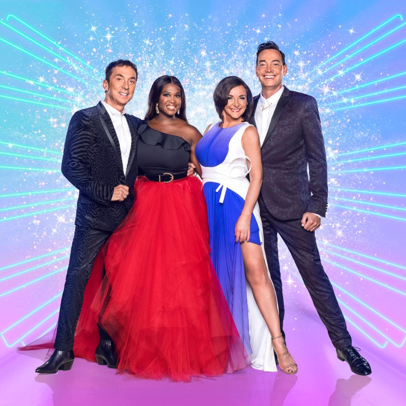 (left to right) The Strictly judging panel 2020: Bruno Tonioli, Motsi Mabuse, Shirley Ballas, Craig Revel Horwood / Picture Credit: BBC