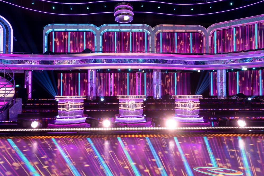 The Strictly judges have their own separate podiums to sit behind / Picture Credit: BBC