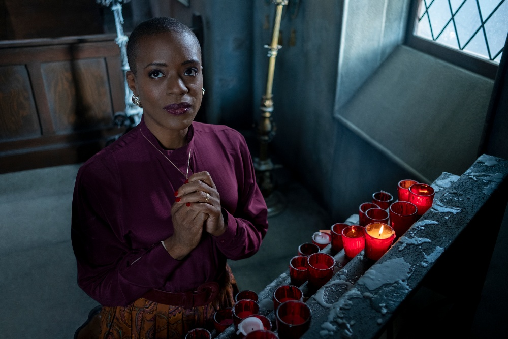 T'Nia Miller as Mrs Grose in The Haunting of Bly Manor / Picture Credit: Eike Schroter/Netflix
