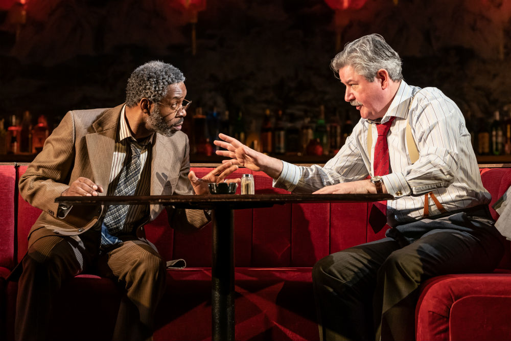 Wil Johnson and Denis Conway as George Aaronow and Dave Moss in Glengarry Glen Ross