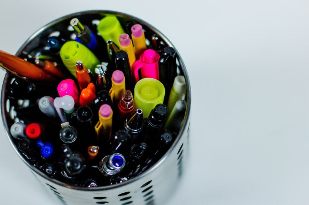 Find a place for your pens please!