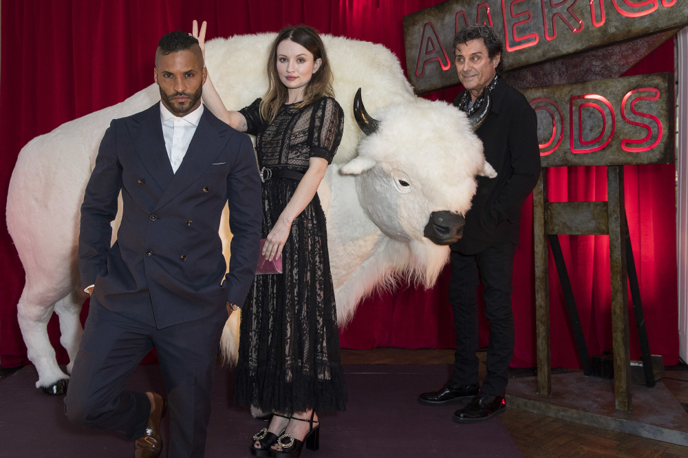 Ricky Whittle, Emily Browning and Ian McShane