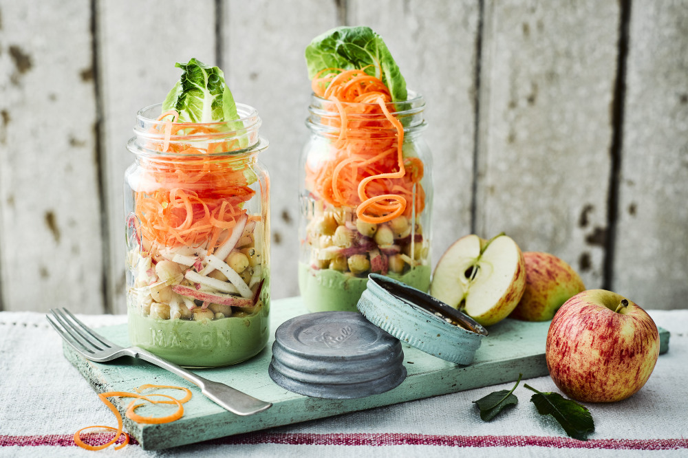 Gala Apple Vegan Salad Jar