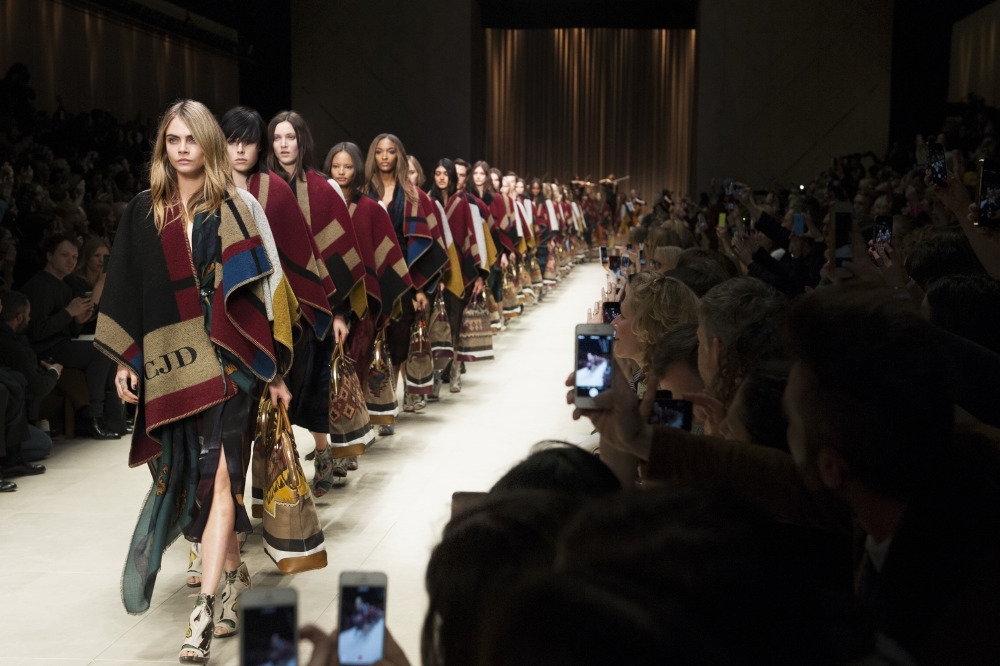 Cara Delevingne leads the pack at Burberry Prorsum AW14