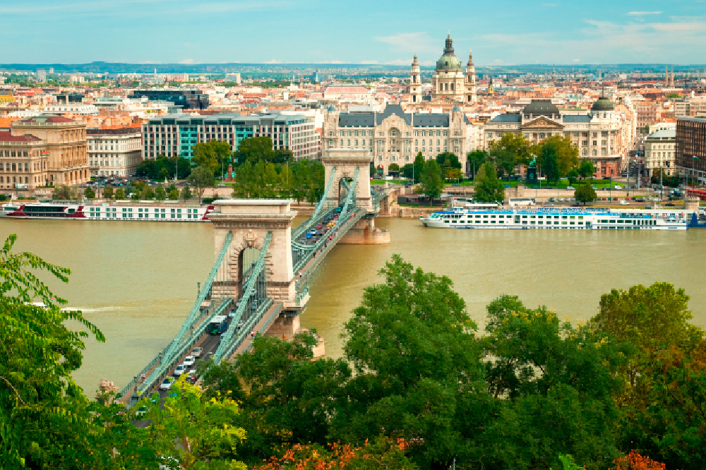 Budapest view over the Danube River