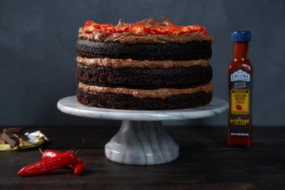 Vegan Chilli Chocolate Cake