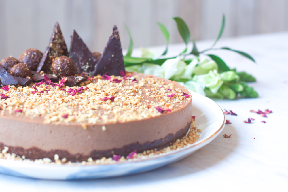 Chocolate And Hazelnut Raw Cheesecake