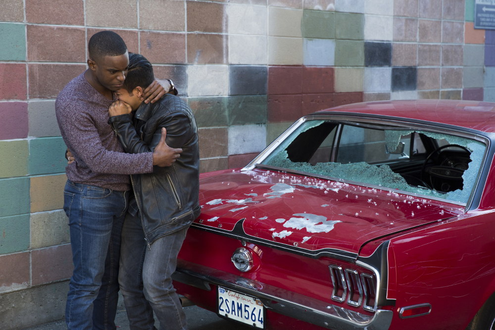 Derek Luke and Christian Lee Navarro as Kevin Porter and Tony Padilla / Photo Credit: Beth Dubber/Netflix