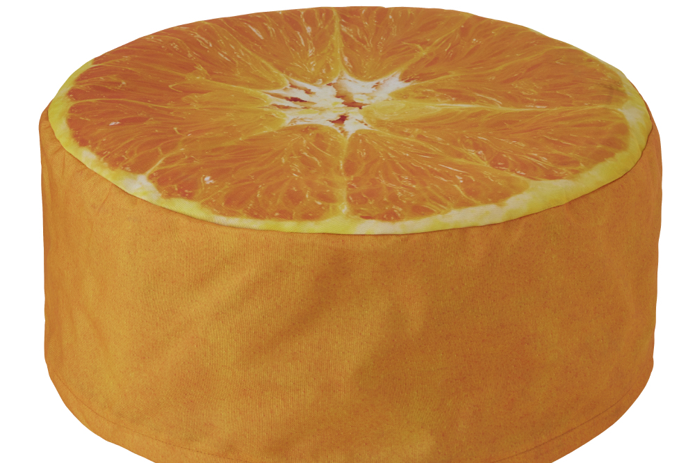 Orange Pouffe