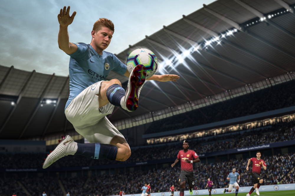 Kevin De Bruyne's still in action in FIFA 19 / Photo Credit: EA Sports