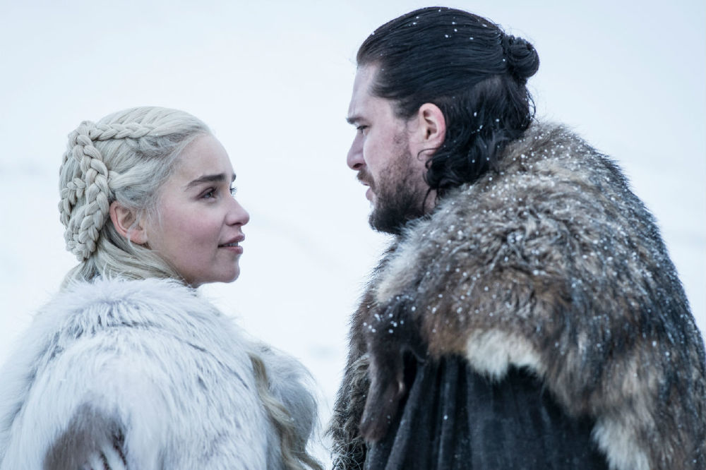 Stare at each other longingly like Dany and Jon