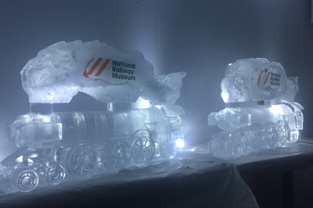One Of The Thirty One Ice Sculptures