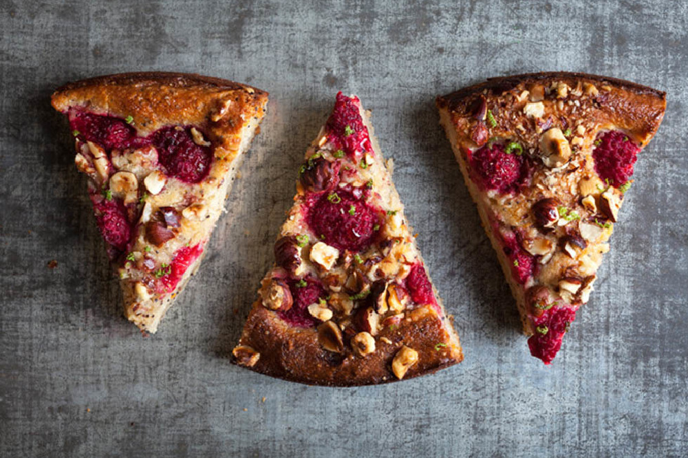 Gluten Free Raspberry & Lime Yogurt Cake