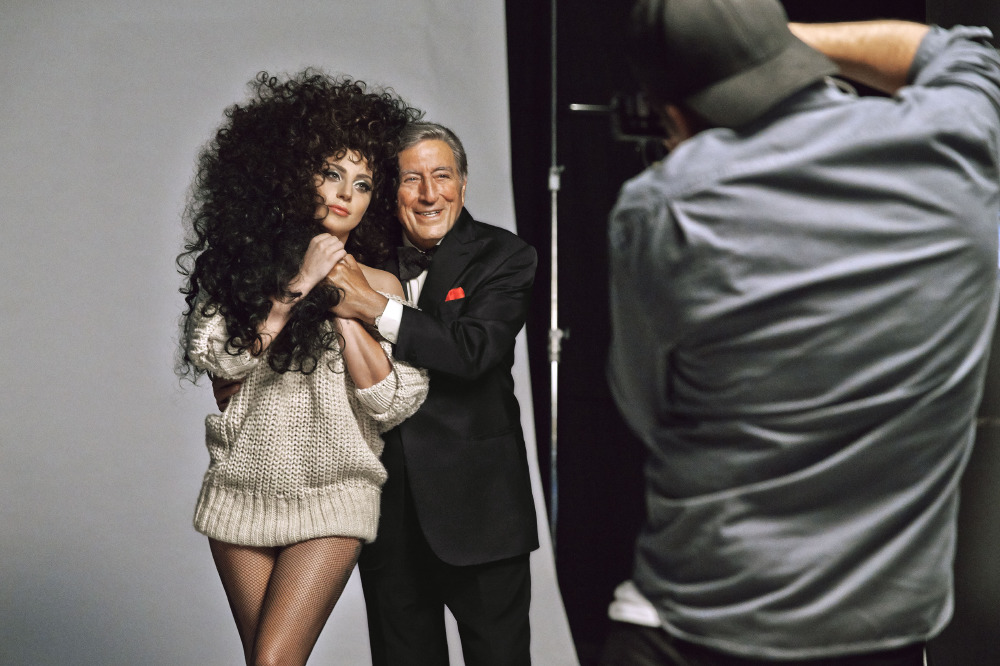 behind the scenes shot of the hm christmas campaign