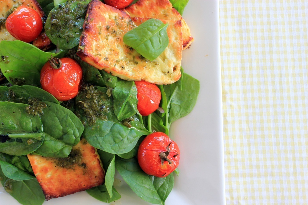 Picnic Recipes: Haloumi and Spinach Salad