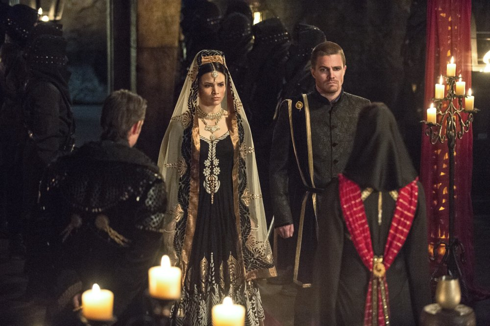 Nyssa and Oliver's marriage in season 3 / Credit: The CW