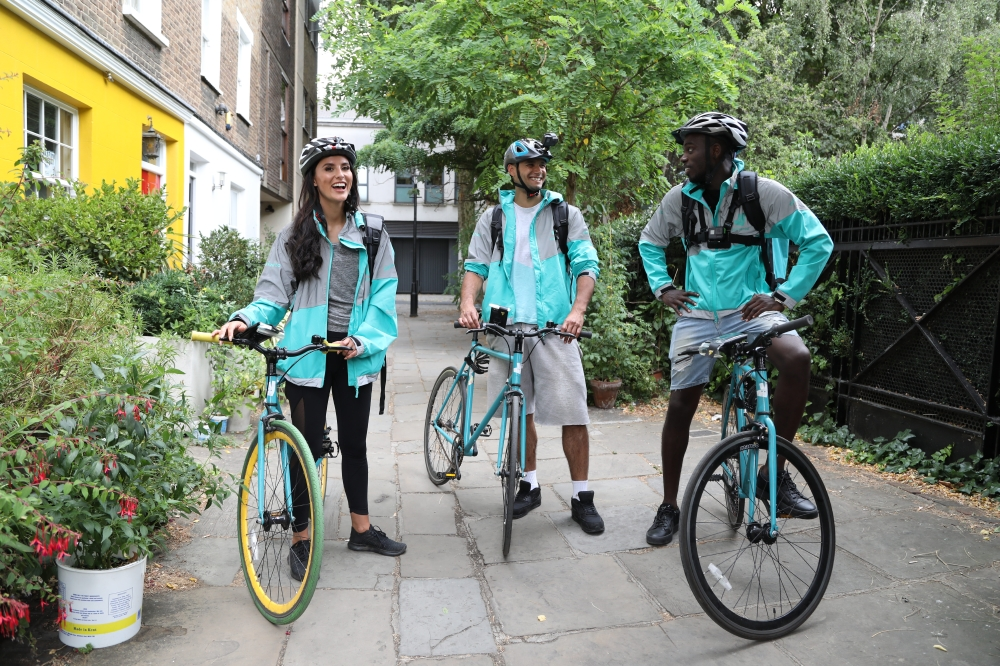 Lucy Watson and Marcel Somervilee try out a Deliveroo role they found on Gumtree