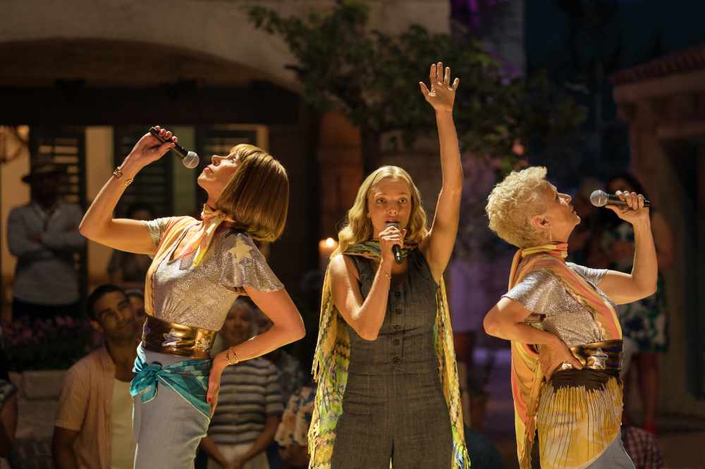 Christine Baranski, Amanda Seyfried and Julie Walters return