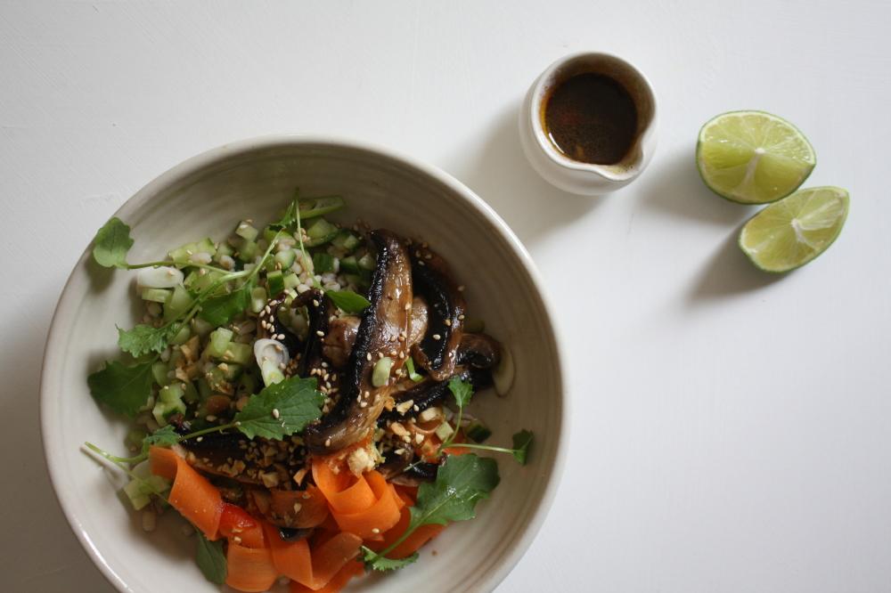 Miso Portobello Mushrooms, Sweet Chilli Pickled Carrots ...