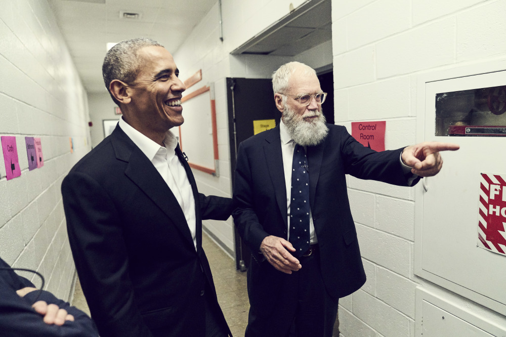 Barack Obama is Letterman's first guest on the Netflix original series