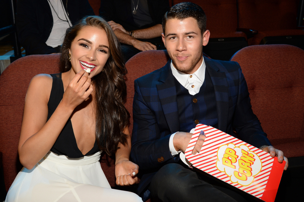 Olivia Culpo and Nick Jonas / Credit: WireImage