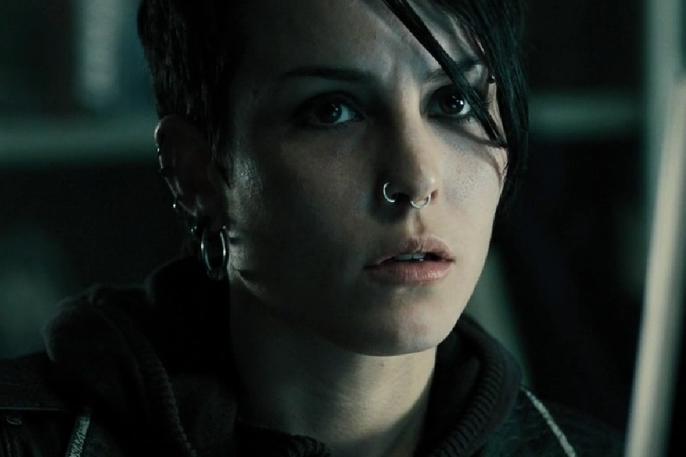 Noomi Rapace as Lisbeth in The Girl with the Dragon Tattoo