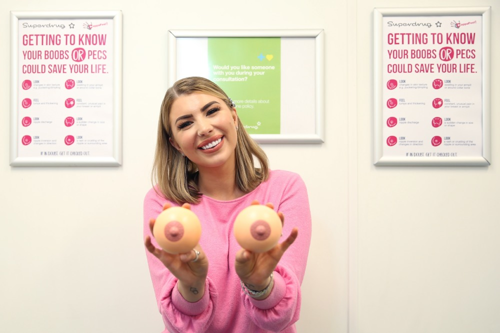 Olivia Buckland is promoting self check examinations