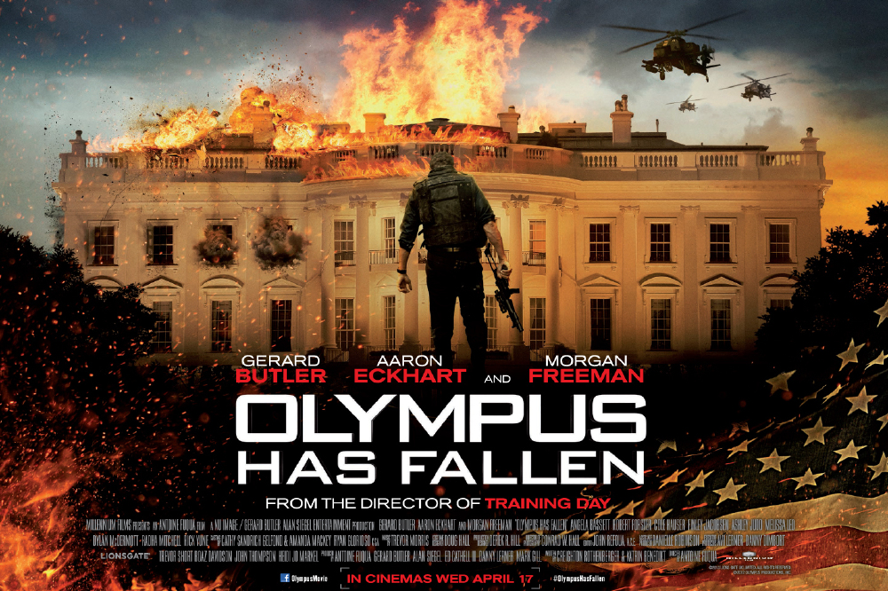 Win Olympus Has Fallen Poster Signed By Aaron Eckhart