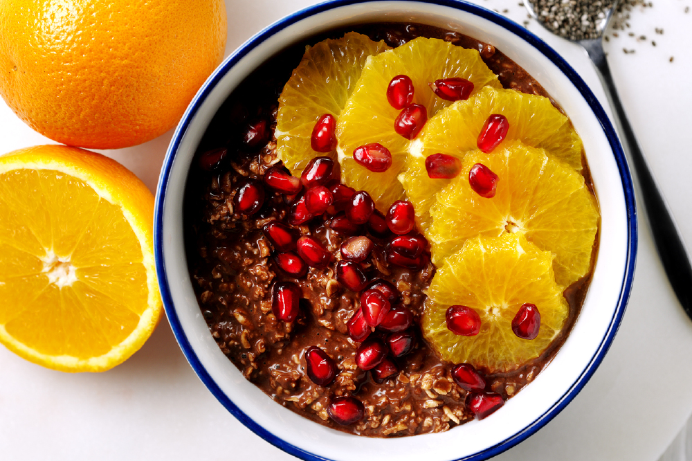 Chocolate Orange Overnight Oats