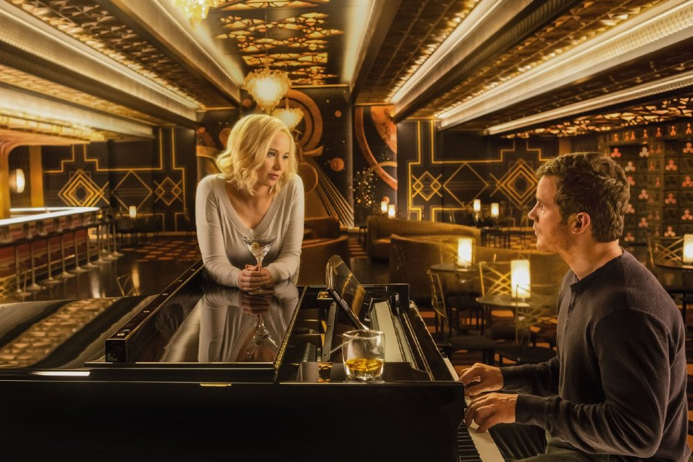 Alongside Jennifer Lawrence in Passengers
