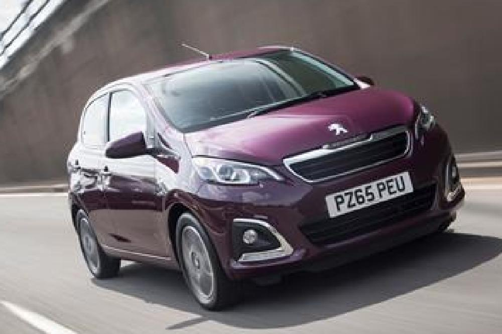 Prices for the PEUGEOT 108 start at just £8,345 OTR